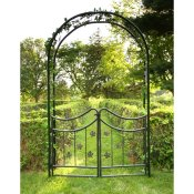 metal arbor with nice gate