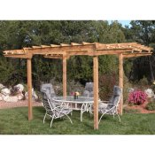 Nice large cedar pergola, provides great shaded area