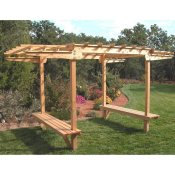Cedar arbor with a built in bench