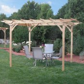 Nice cedar to arbor is perfect for entertaining
