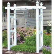 Vinyl arbor with large posts