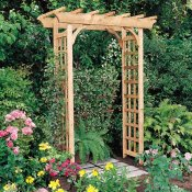 rosedale expandable wood arbor