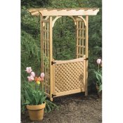 rosedale wood arbor with garden gate