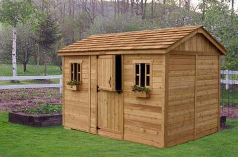 Backyard wooden sheds