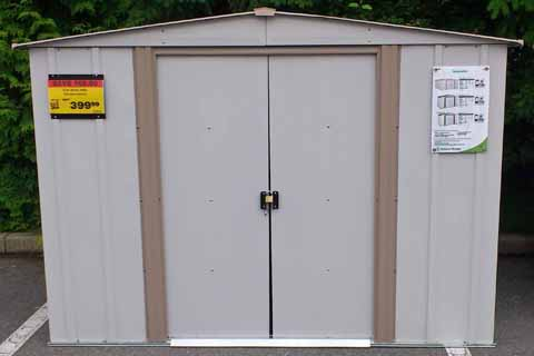 This is a common metal storage shed kit that you can purchase at a building center