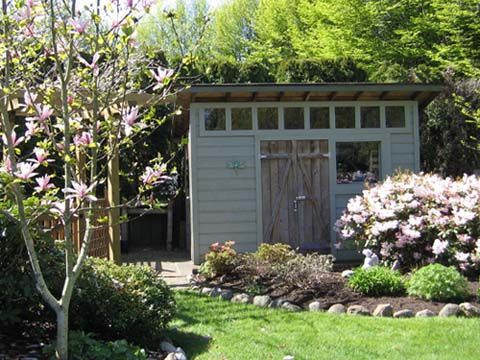 Modern wooden sheds riversshed for Garden shed pictures