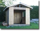 Picture of wooden shed under construction