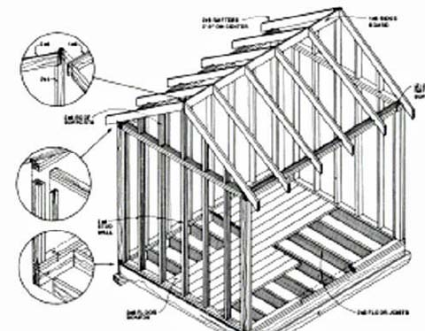 Backyard Storage Building Plans on barn construction