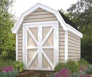 This barn style shed is great for storing your garden equipment and tools.