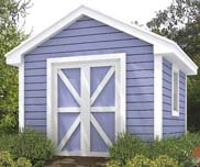 Here's a shed that looks like a barn.